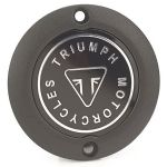 Bonneville T120, Street Twin, Thruxton/R: Triumph Black Clutch Badge OEM # A9610257